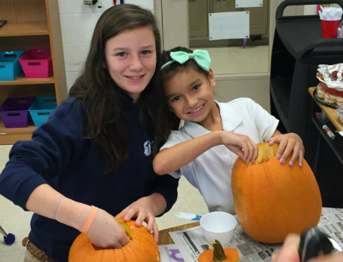 MACA's 5th Graders Learn with Pumpkins