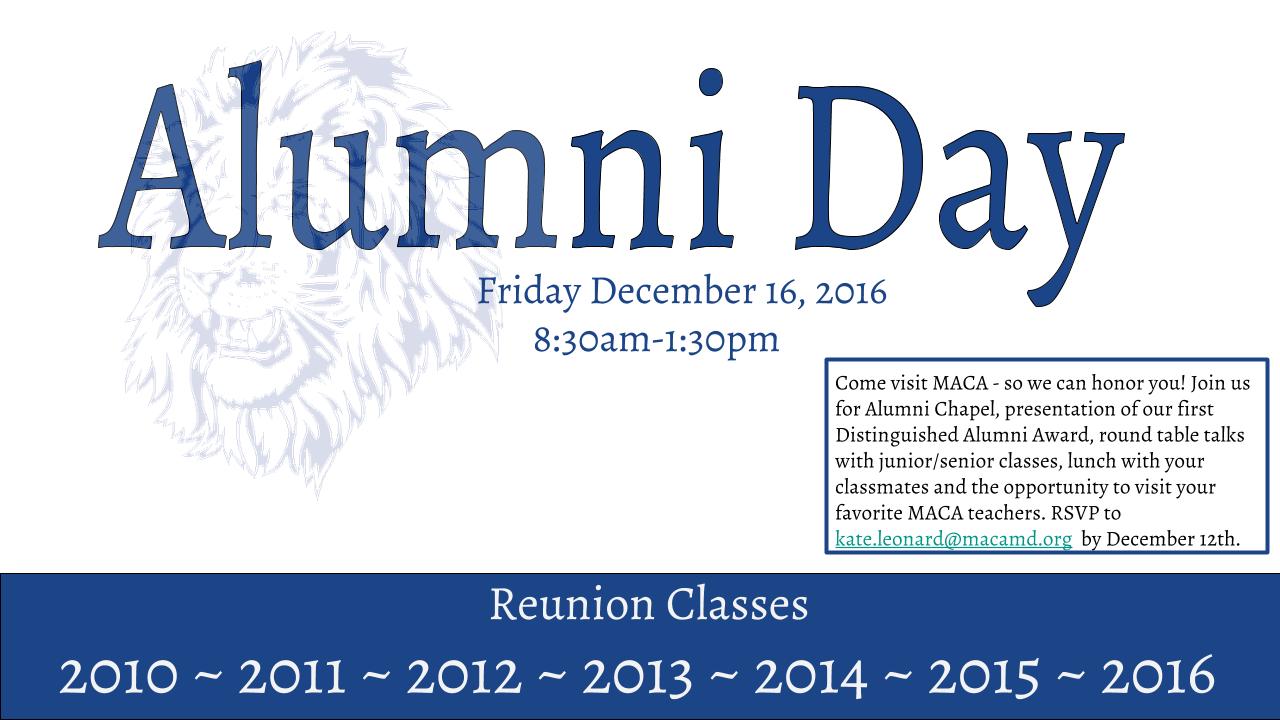 MACA Alumni Day!