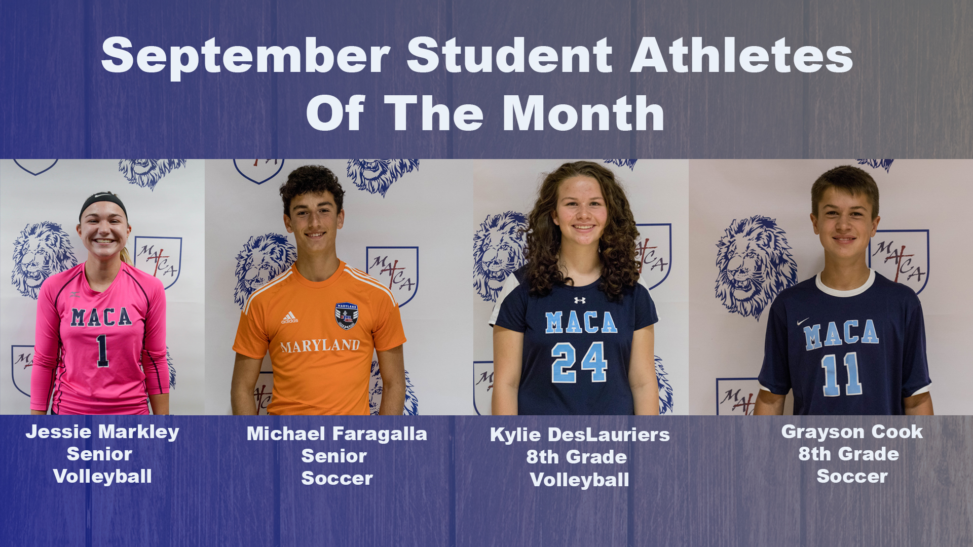 student athletes of the month sept