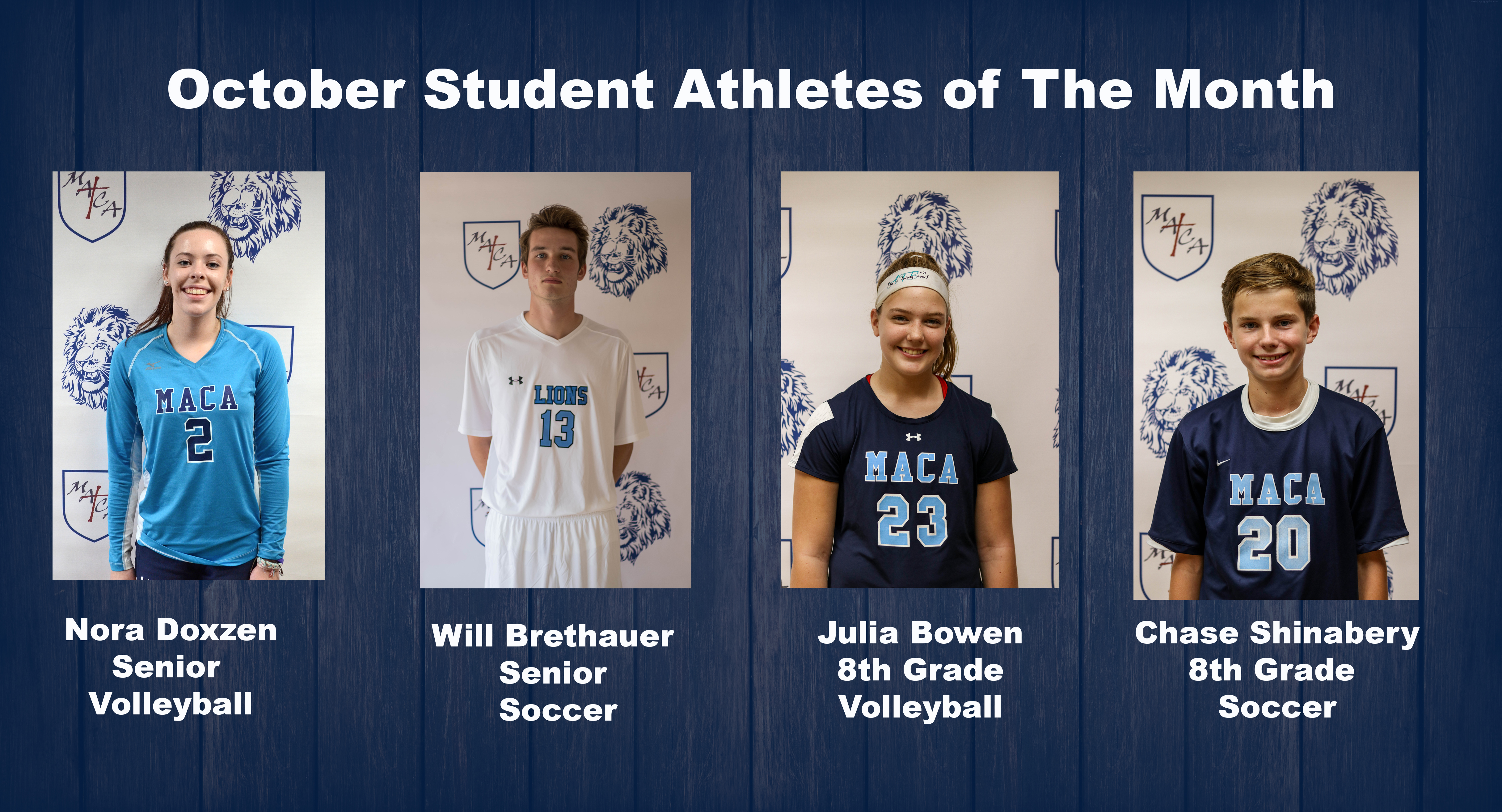 Student Athletes of the Month